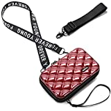 Bolso Movil Mujer,Bandolera Pequeña,Teléfono Celular Crossbody Phone Wallet Bolsa con Cremallera Bandolera Monedero con Ranuras para Tarjeta (Vino Rojo-1)
