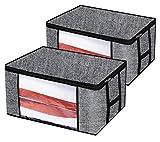 homyfort 2 Stück Aufbewahrungstasche für Bettdecken und Kissen - Kleidung Lagerplätze,...
