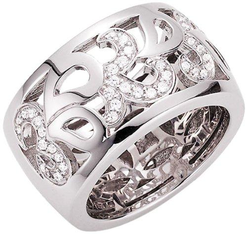 Giorgio Martello Milano Damen-Ring 925 Sterling Silber Zirkonia weiß Gr.54 (17.2) 306259540