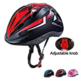Oeyliz Kids Bike Helmet Toddler Bicycle Helmet Adjustable Multi-Sport Safety Helmet Ages 3 to 8 Boys Girls CPSC Certified Kids Bicycle Helmets for Cycling Skateboard Bicycle Scooter (Black Red)