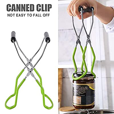 Canning Jar Lifter Tongs for Safe and Secure Grip Stainless Steel Jar Lifter with Grip Handle Roots & Branches Home Canning Jar Lifter works well with virtually all canning jars (Green, 1)