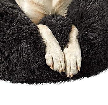 Homay Panier Rond pour Chien et Chat Peluche Douce, Lit pour Grand Et Très Grand Chien de Chat Moelleux Paniers pour Chiens, Coussin pour lit de Chat Lavable XL-100cm