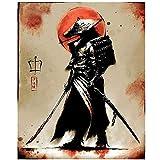 yaoxingfu Puzzle 1000 Piezas Samurai Puzzle 1000 Piezas paisajes Juego de Habilidad para Toda la Familia, Colorido Juego de ubicación.50x75cm(20x30inch)