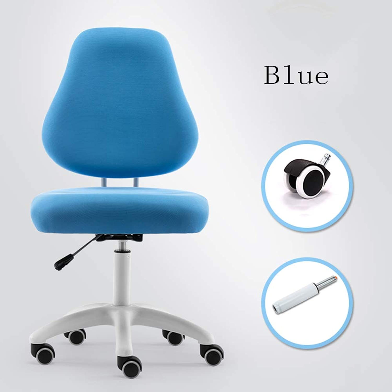 Huifang Corrective chair QFFL jiaozhengyi Drehstuhl, Kinderkorrektur-Stuhl-justierbarer Rückenlehnen-Studenten-sitzender Stuhl-Computer-Stuhl-Aufzug (Farbe   Blau, gre   1 )