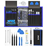 Precision Screwdriver Kit, XOOL 80 in 1 Electronics Repair Tool Magnetic Driver Kit with Anti-Static Wrist Strap, Flexible Shaft, Extension Rod for Computer, MobilePhone, Game Console, PC, Tablet