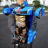 SXLCKJ 1:12 Modelo Gigante 2-en-1 Deformación Coche Robot Transformador Vehículo Carreras Inteligente Radio de detección de Gestos RC Eléctrico (Coche Inteligente)