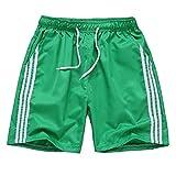 HIENAJ Men's Quick Dry Pocket Sports Shorts Low Rise Soft Running Training Short Pants Green