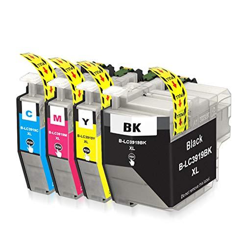 Cartucho de tinta compatible LC3919XL, repuesto negro y color para impresora Brother LC3919XL para usar con impresora Brother MFC-J2330DW MFC-J2730DW MFC-J3530DW MFC-J3930DW
