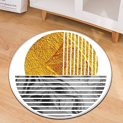 Alfombra Circular De Patrón Geométrico Material Antideslizante Resistente Al Desgaste Que Se Puede Lavar Adecuado para Cojines De Sillas De Oficina Cojines De Sillas De Computadora para