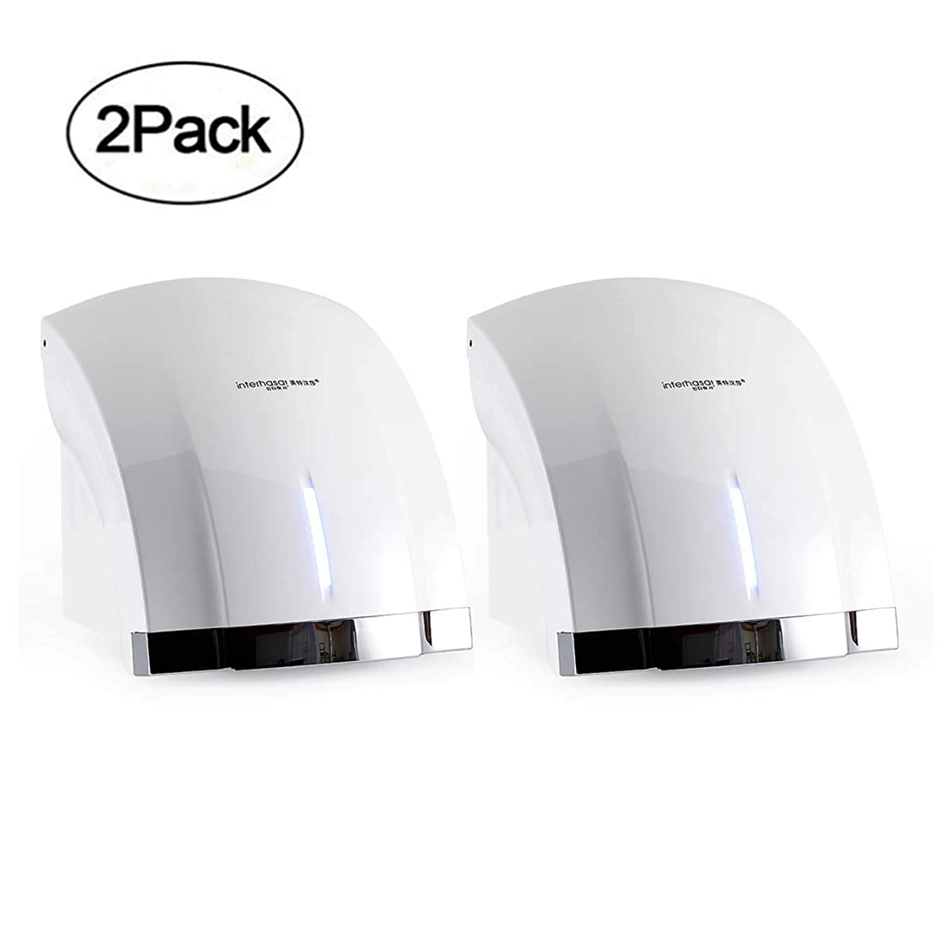 interhasa! Premium Quality High Speed 1800W Automatic Electric Commercial Hand Dryer (2 pack-110V) Color:White
