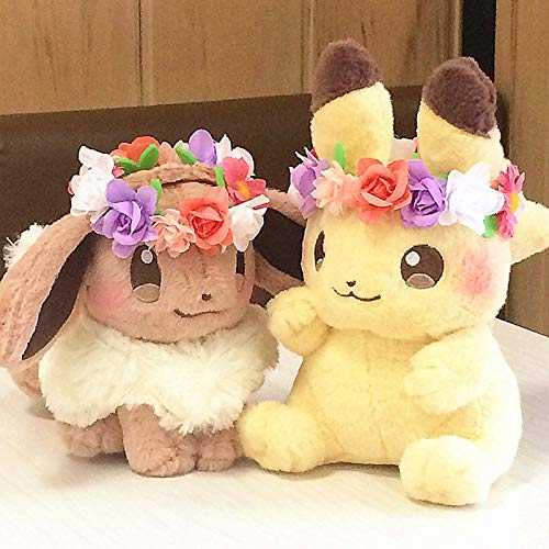 New Authentic Japan Pokemon Anime Game 2pcs Pikachu Eievui Easter Eevee Plush Doll Limited Plush Toy