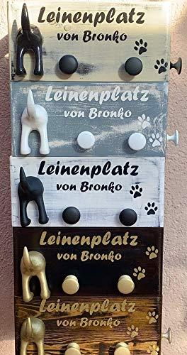 30x20x14 Hundegarderobe, Leinengarderobe, Leinenparkplatz, Leinenhalter, Garderobe für Hundeleinen, Hundegarderobe, Holz, Dogstation, personalisierbar