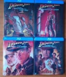 INDIANA JONES COLLECTION COMPLETE 4 UK STEELBOOKS BLU RAY by Harrison Ford