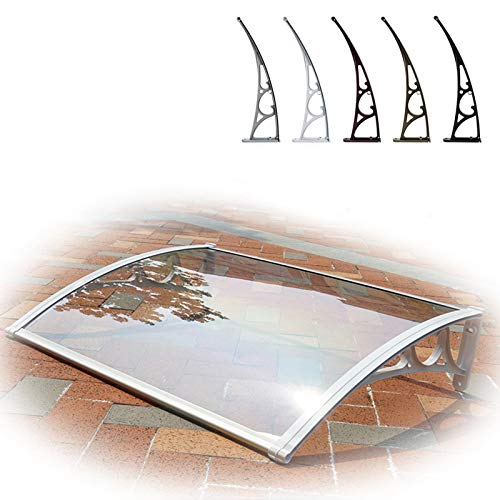 CDDQ Marquesina de Puerta Policarbonato Transparente Tejadillo de Protección 60cm*150cm,60 * 120cm,60 * 200cm Techado para Entrada