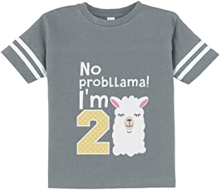 Gift for 2 Year Old Girl No Probllama 2nd Birthday Toddler Jersey T-Shirt