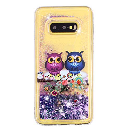 Funda brillante de 14 quilates, compatible con Galaxy S10 E, ultrafina, líquida, con purpurina, arenas movedizas, purpurina, gradiente de arena movedizada, silicona, suave TPU, funda para teléfono móvil