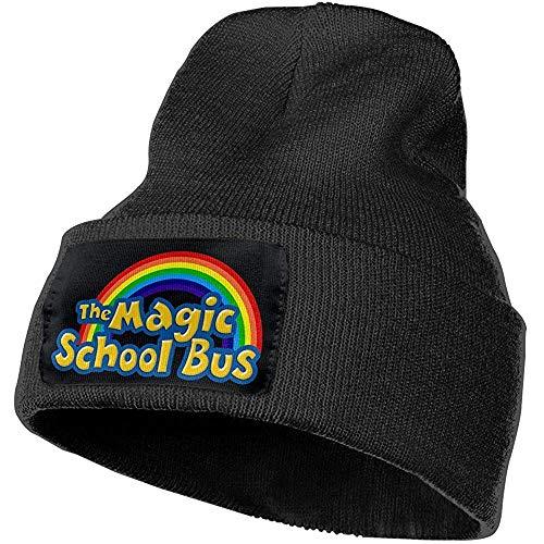 Sweet Firefly Herren und Damen The Magic School Bus Schädel Mütze Hats Winter Strickmützen Weiche warme Ski HAt Black-22-J5