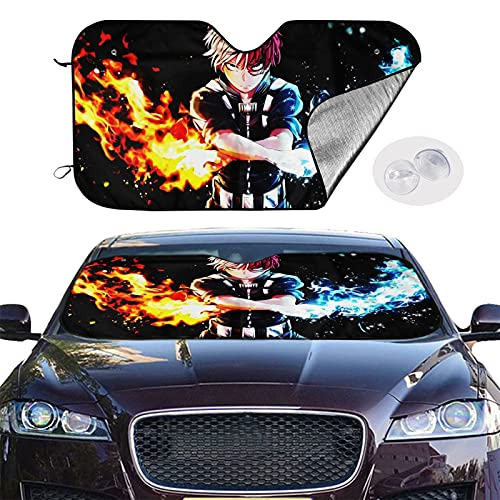Sellbia Cartoon Anime Cars Front Windshield Sunshade 5127.5in Truck SUV Foldable Uv Resistant Sun Protection