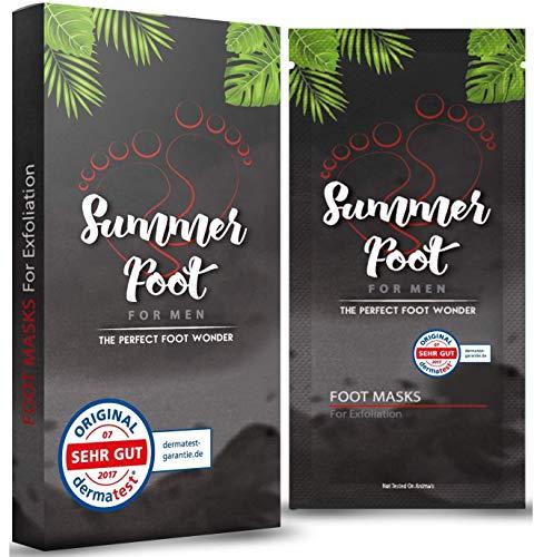 Summer Foot for Men Premium Maschera per piedi per eliminare i calli Piedi levigati e morbidi dopo una sola applicazione Testato dermatologicamente Istruzioni uso in italiano