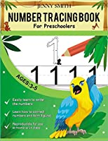 Number Tracing book for Preschoolers: Practice for Kids with Pen Control, Line Tracing, Letters, and More! Learning the easy Maths for kids. Ages 3-5