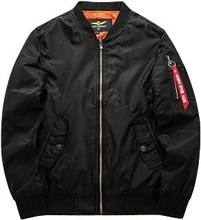 MisFox Mens Bomber Jackets Round Collar Waterproof MA1 Flight Jacket Military Warm Baseball Coat Outdoor Windbreakers with...
