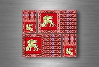 Akacha 4X Adesivi Adesivo Sticker Bandiera Vinyl Tuning Venezia Repubblica