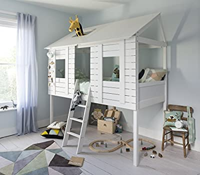 Noa and Nani - Christopher Treehouse Midsleeper Cabin Bed - (White)