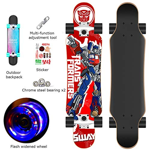 YXB Outdoor tieners Scooter, met Flash Wheel Sticker Pack, evenwicht spel Skateboard H1/22