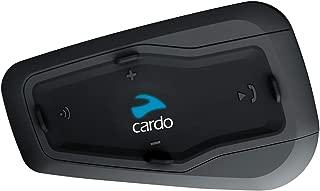 Cardo FRC2P101 Plus-Sistema de comunicación Bluetooth bidireccional para Motocicleta con Audio HD to Rider (Paquete, Negro, Freecom 2 Doble, Set de 2