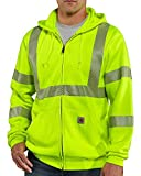 Carhartt Men's High Visibility Class 3 Sweatshirt,Brite Lime,X-Large