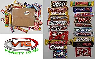 Lot of 20 Top Canadian Chocolate Bars Coffee Crisp, Maltesers, Mirage, Eat-more, Mr.Big, Crunchie, Big Turk and more...