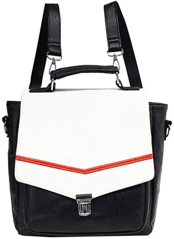 DYR Backpack Lady Handbag Casual Shoulder Diagonal Bag MultiPurpose Lock Backpack Chest Bag