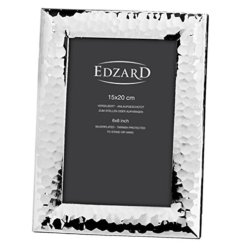 Edzard portafoto Gubbio per Foto 15x20 cm, Argento pregiato Placcato, antiossidante