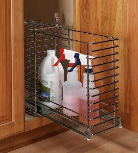 Hafele Lockable Pull-out Compartment, 8 inch W x 17 inch D x 17-3/8 inch H
