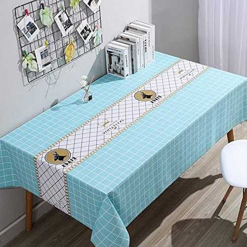 NF Nappe De Table Lavable en Vinyle Nappe en Plastique PVC Essuyer Propre ImperméAble à l'huile Rectangulaire Protecteur De Couverture De Table pour Cuisine Pique-Nique ExtéRieur IntéRieur 90 * 90cm