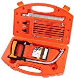 Multifunction Handheld Handsaw Set, 15 in 1, Multi Purpose, Hacksaw, Coping Saw, Bow Saw, Wood Saw, Steel Saw for Cutting Wood, Plastic, Tile, Glass, Metal, Ceramic Hunting, Camping, PVC Pipe, Rubber