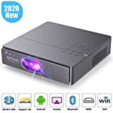 Mini Beamer 3D, OTHA 400ANSI Lumen DLP Beamer 960*540P Projektor Unterstützung 1080P und 4K Video, Tragbarer Android Beamer mit Dual Lautsprecher, Wi-Fi, Bluetooth, HDMI für Heimkino und Spiele