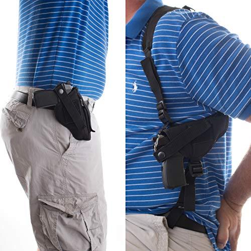 "Gun Holster BUY 1 shoulder GET 1 FREE Hip SPRINGFIELD MOD.2 3.3"" SUB COMPACT XD-E 3.3"" BRL SINGLE STACK 45 SINGLE STACK 9MM W/LASER FN 509 MID SIZE 4"" BRL 9MM FXN-45 4.5"" BRL FNX 9MM FXN 40 4"" #5"