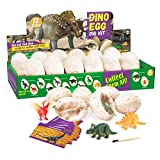 Dig a Dozen Dino Eggs Kit,12 Pack Dinosaur Eggs Toy for 4-11 Year Olds Kids Easter Gifts,Kids Dinosaur Favors STEM Toys for Party Archaeology Paleontology Educational Science Gift
