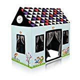 Sukan Tex Jumbo Size Extremely Light Weight Water Proof Kids Play Tent House for 3 to 10 Year Old Girls and Boys (Multi-Color ) (Delex House) (Sky)
