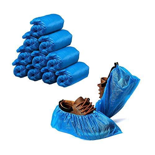 GiantGo Lot de 100 couvre-chaussures jetables en plastique de qualité supérieure pour chaussures, chaussures, tapis de sol, lieu de travail, intérieur et extérieur, protection