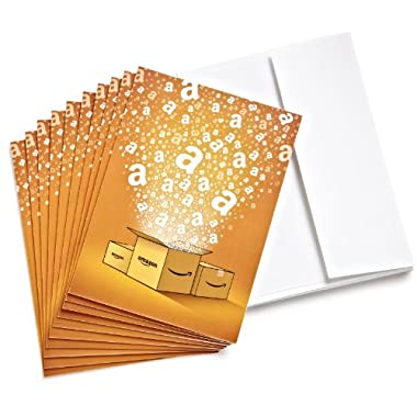 Amazon.com $15 Gift Cards, Pack of 10 with Greeting Cards (Amazon Surprise Box Design)