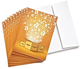 Amazon.com $25 Gift Cards, Pack of 10 with Greeting Cards (Amazon Surprise Box Design) (B005ESMG1E) | Amazon price tracker / tracking, Amazon price history charts, Amazon price watches, Amazon price drop alerts