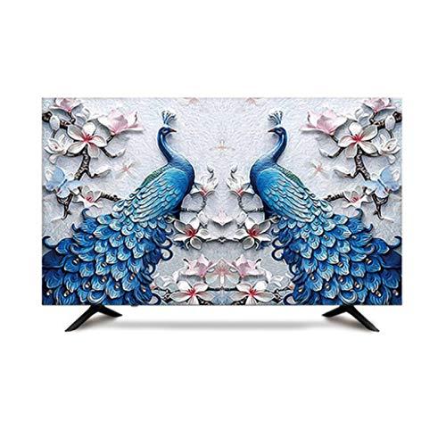 MFMYUANHAN Monitor Cubierta 27 Pulgadas PULSA DE TV Interior INTERPORTE Cubierta DE TV A Prueba De TV PROTECCIÓN DE Tela(Size:78in,Color:4#)