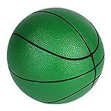 BORPEIN Ballon de Basket-Ball en Mousse sans Pompe avec Pompe de Base, 7 Pouces de Base, avec Sac de Rangement en Filet (Vert)