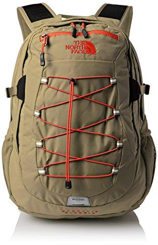The North Face Rucksack Borealis Classic Mochila, Unisex, Verde/Rojo, OS