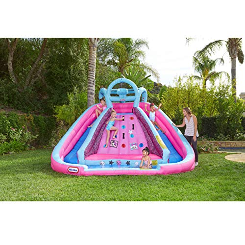 L.O.L. Surprise Inflatable River Race Water Slide with Blower