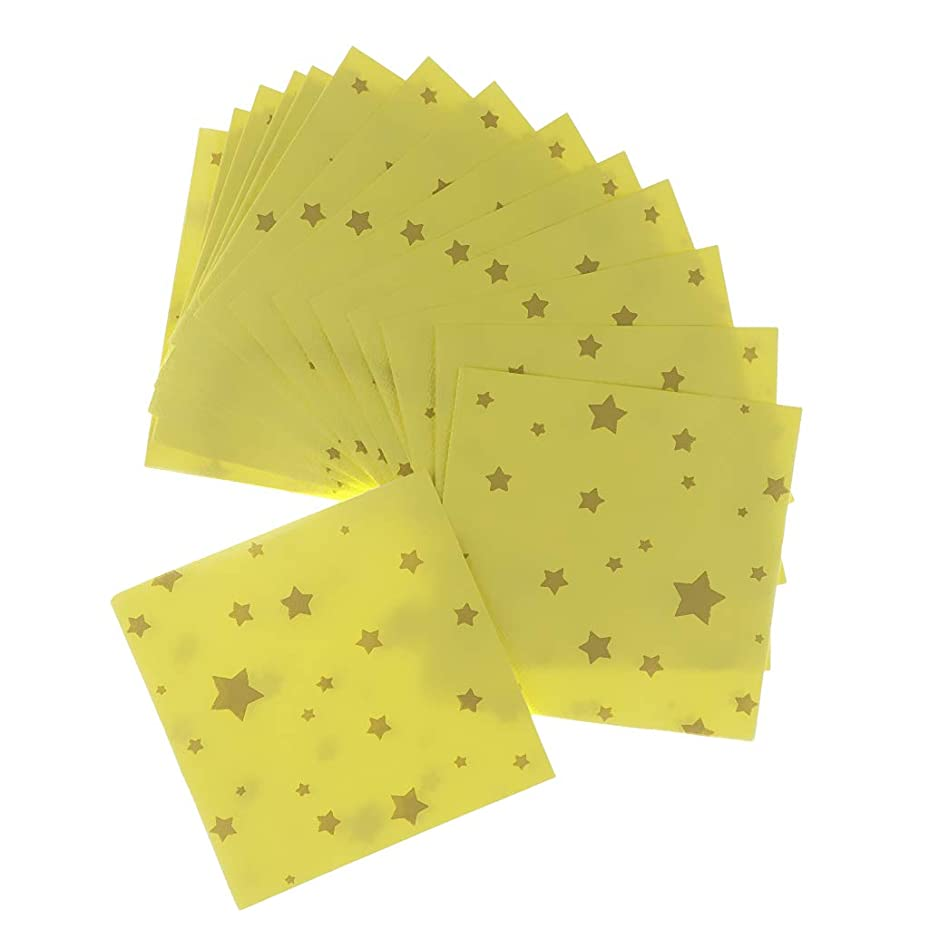 悪魔遷移補助金Baoblaze 20個 使い捨て ナプキン 黄色い ペーパーナプキン かわいい 星形 スター