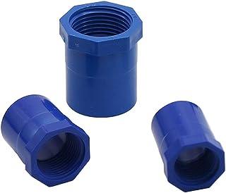 "YISENMIAO 5Pcs PVC Female Thread To 20mm 25mm 32mm Connectors 1/2"" 3/4"" 1"" Internal Thread Hose Repair Connector Garden Wa..."