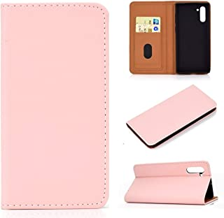 For Galaxy Note 10 Solid Color Magnetic Horizontal Flip Leather Case with Card Slot & Holder New (Black) Lipangp (Color : Pink)